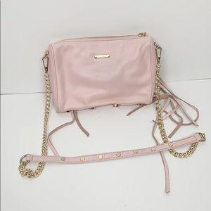 Rebecca Minkoff Pale Pink Rocket Crossbody Zippers